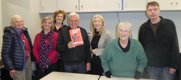 Fun in my Fiction Writing class, at Span Community House, with 'guest author' Graeme Simsion